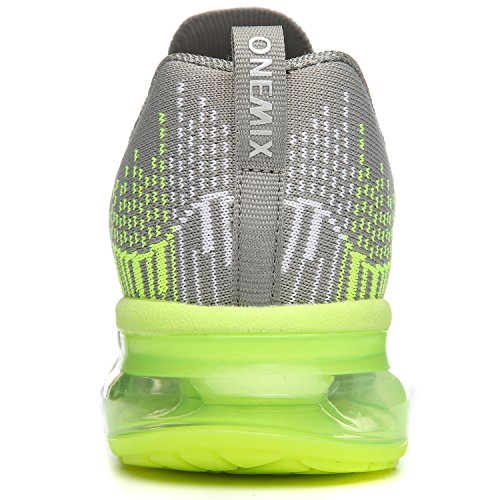 ONEMIX Mens Air Cushion Outdoor Sport Running Shoes Lightweight Casual Sneakers Grey2 8I12hW