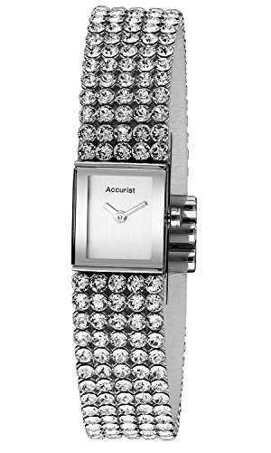 Accurist Ladies Analogue Watch With Stone Set Bracelet LB1504
