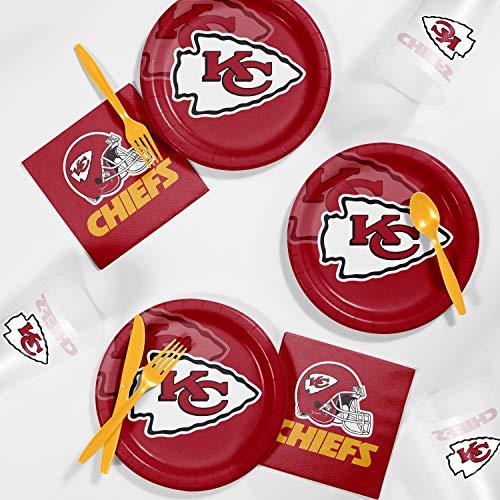 - Creative Converting Kansas City Chiefs Tailgating Kit, Serves 8