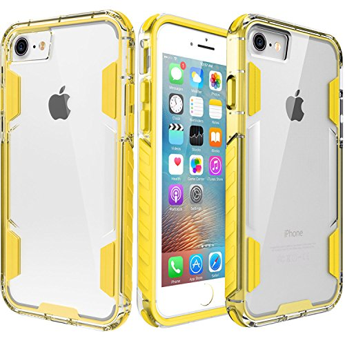 iPhone 8 Case,iPhone 7 Case,Zisure[Rock Sugar]Heavy Duty Crystal Hard Clear Case Durable Shatterproof sport Phone Cover for iPhone 8 iPhone 7 4.7 inch (Yellow)