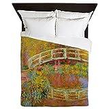 CafePress - Monet Bridge At Giverny - Queen Duvet Cover, Printed Comforter Cover, Unique Bedding, Microfiber