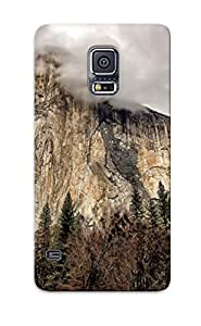 Hard Plastic Galaxy S5 Case Back Cover, Hot Mountains El Capitan Yosemite National Park Sky Trees Case For Christmas's Perfect Gift