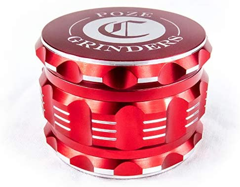 Best Herb Grinder Premium [Upgraded Version].Large 4 Piece 2.5″ Perfect Grinder For Spice – Color: Red Aluminum