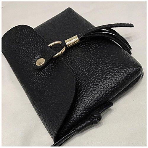 la de mensajero pequeño vendimia del la la del Negro zarupeng del moda hombro Bolsos borla bolso de la de de bolso manera de 0w1ZqxHSUn