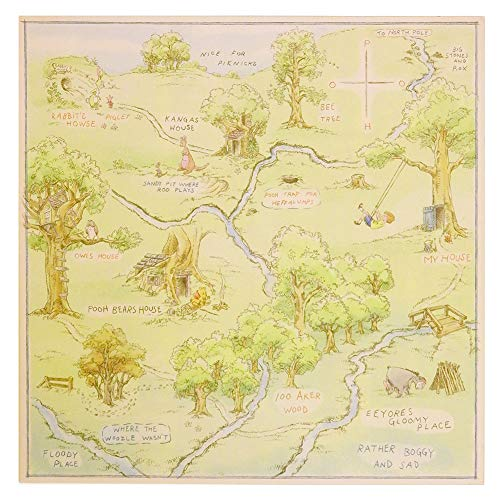 100 aker wood map - 5