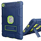 iPad Air 2 Case, WORLDMOM [Hybrid Shockproof Case] with KickStand Support Rugged Triple-Layer Heavy Duty Shock Resistant Drop Proof Case Cover for iPad Air 2 with Retina Display/iPad 6,Blue/Green