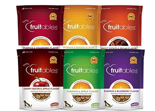 Pumpkin Pecan Muffins - Fruitables Pumpkin Dog Treats, 7oz, Crunch Variety 6-Pack
