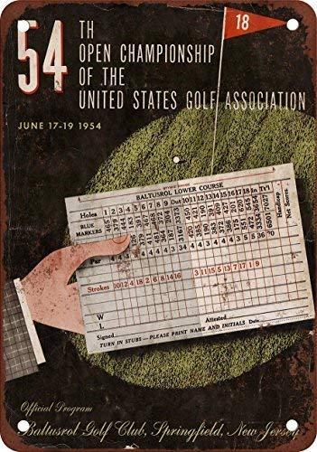 1954 US Open Baltusrol Golf Club Vintage Look Reproduction Metal Tin Sign 8X12 inches