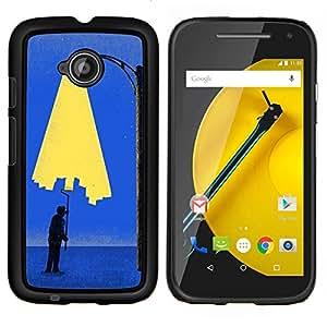 """Be-Star Único Patrón Plástico Duro Fundas Cover Cubre Hard Case Cover Para Motorola Moto E2 / E(2nd gen)( Pintura Art City Light Wall Street Lamp Post"""" )"""