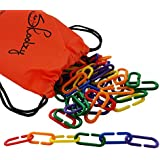 Linking Math Manipulatives Learning Toys - 120 Skoolzy Rainbow Math Links Counters with Tote & Preschool Learning Activities eBook - Kids Counting Toys Kindergarten Fine Motor Skills with Tote
