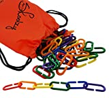 Skoolzy Linking Math Manipulatives Learning Toys - 120 Rainbow Math Links Counters with Tote & Preschool Learning Activities eBook - Kids Counting Toys Kindergarten Fine Motor Skills with Tote
