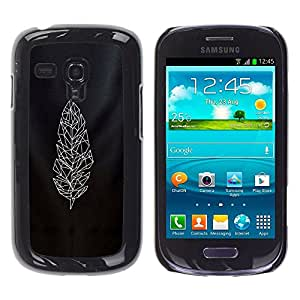 Cubierta protectora del caso de Shell Plástico || Samsung Galaxy S3 MINI NOT REGULAR! I8190 I8190N || Polygon Art Quilted White @XPTECH