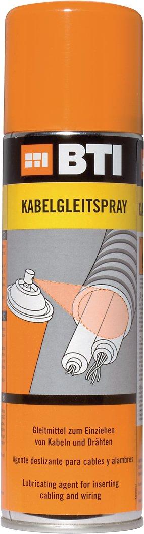 Kabelgleitspray - 400ml - bildet Schmierfilm - Einziehen von Kabeln und Drä hten in Elektroinstallationsrohren, Schä chten und Kanä len BTI