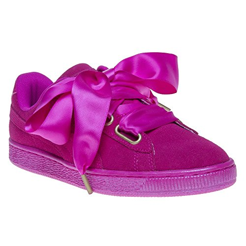 Puma Suede Heart Satin Femme Baskets Mode Rose