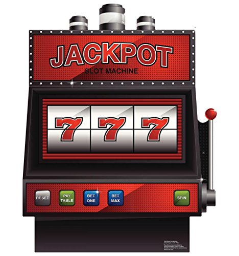 Vegas Slot Machine - Vegas Party Theme - Advanced Graphics Life Size Cardboard Standup