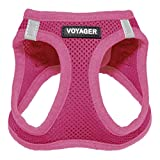 Voyager Step-in Air Dog Harness - All Weather Mesh, Step in Vest Harness for Small and Medium Dogs by Best Pet Supplies - Fuchsia (Matching Trim), M