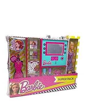 Barbie- Uper Pack Estuche con Luz y Maquillaje con Muñeca ...