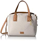 Fossil Emma Satchel, Grey/White, One Size