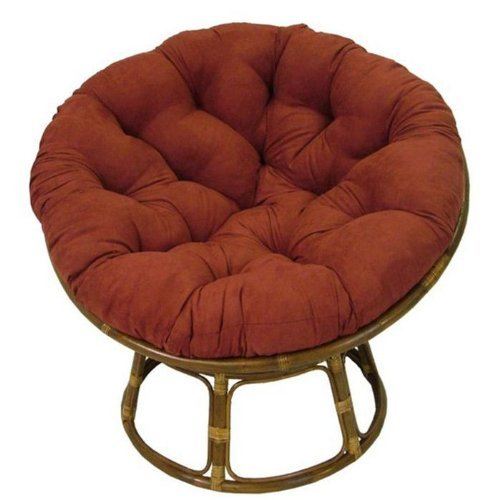 Rattan Papasan Chair with Cushion