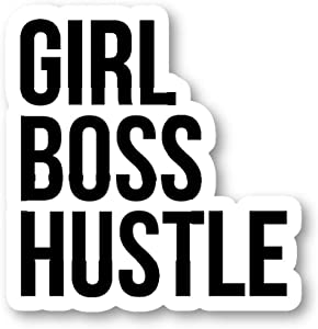 Girl Boss Hustle Sticker Inspirational Quotes Stickers - 3 Pack - Set of 2.5, 3 and 4 Inch Laptop Stickers - for Laptop, Phone, Water Bottle (3 Pack) S214352