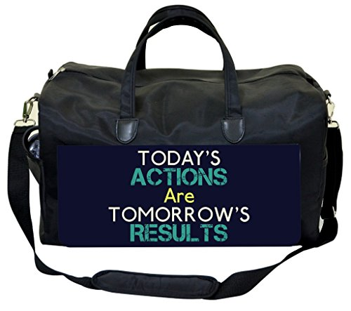 Today's Actions Are Tomorrow's Results-Blue Gym Bag by Jack's Outlet