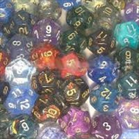 Chessex Manufacturing 29212 Signature Polyhedral D12 Assortment Dice, Bag - 50 by Chessex Manufacturing