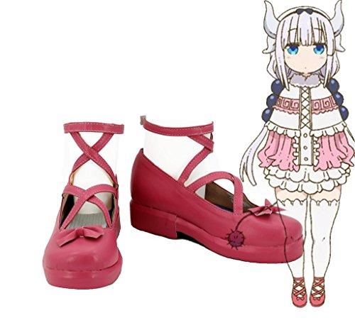Kobayashis Maid Made Custom Shoes Boots Kamui Dragon Miss Cosplay Kanna dwxPfdCq