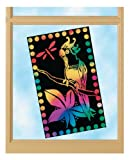 Melissa & Doug Scratch Art Scratch Light, Stained-Glass-Style Sheets - 30 Sheets, Rainbow