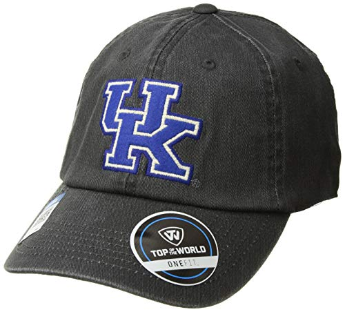 (Top of the World NCAA Kentucky Wildcats Men's Adjustable Dispatch Charcoal Icon Hat, Charcoal)