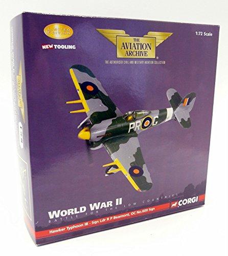 Corgi 1/72 Scale AA36502 WW2 Hawker Typhoon IB 609 Sqn Manston 1943 B002WUCQR6