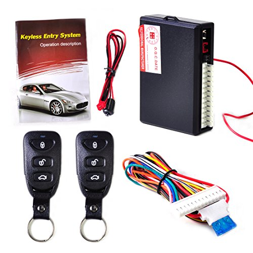 beler Universal Car Door Lock Vehicle Keyless Entry System Auto Remote Central Kit with 2 Remote (Remote Pneumatic Actuator)