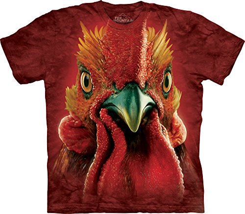 Rooster Head T-shirt (The Mountain Men's Rooster Head T-shirt, Red, Large)
