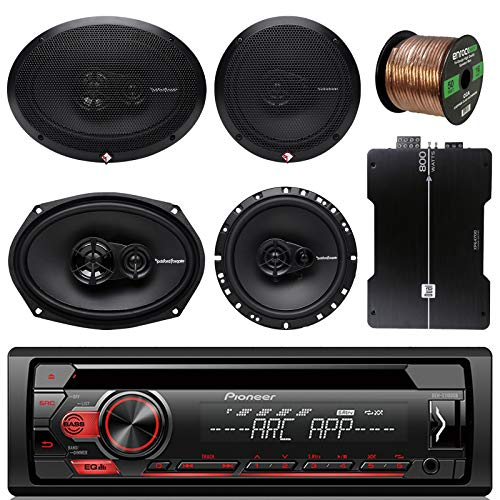 (Pioneer DEH150MP Car Stereo CD Player Bundle Combo With 2x Rockford Fosgate 6.5