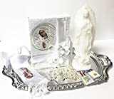 Girls English Our Lady of Guadalupe First Holy Communion Complete Gift Set with Tray. Gift Boxed