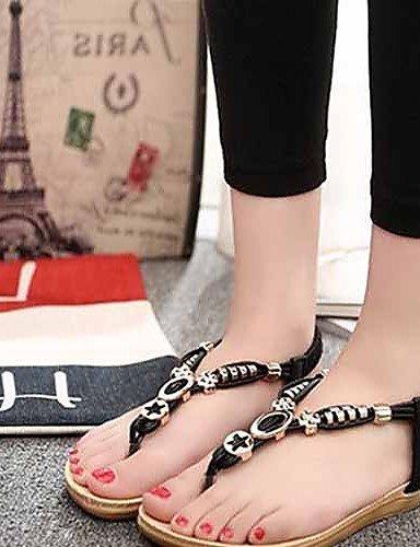 ¨ Scarpe donna vestito Bianco EU pelle sint di ¦ Nero ZQ Casual ® TAC Infradito 39 n ¨ Tico Rosso sandali Blu piatto esterni zSqwdx
