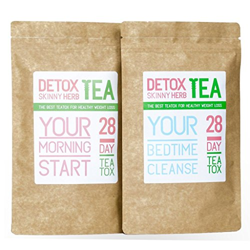 28 Days Teatox: Detox Skinny Herb Tea - Effective Detox Tea, Body Cleanse, Reduce Bloating, Natural Weight Loss Tea, Boost Metabolism, Appetite Suppressant, 100% Natural
