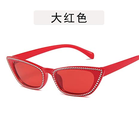 Yangjing-hl Gafas de Personalidad Gafas imitación Diamante ...