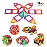 Image of FUNTOK Magnetic Building Block Set Magnet Toys 3D DIY Construction Stacking Tiles For Kids Creative Learning Education 54Pcs