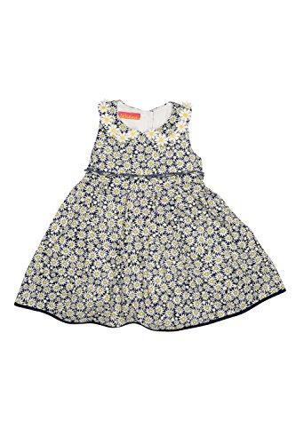 Kate Mack Baby Girls' Daisy Chain Print Dress, Navy, 24 Months (Daisy Chain Dress)