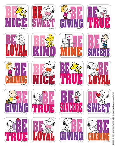 (Just4fun - 240 Heart Love Snoopy Stickers - Valentine's Day 12 Sheets of 20 - Woodstock Peanuts - Teacher Motivational Rewards Education Classroom Party Favors)