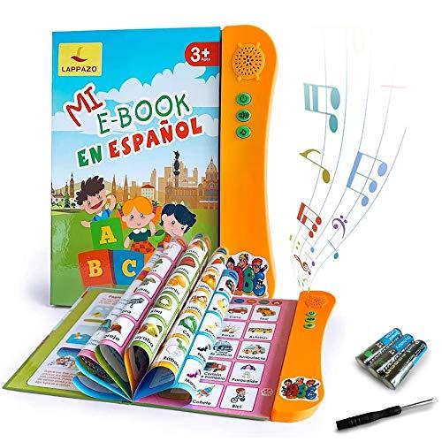 Libro Electronico de Sonido en Espanol Juguetes de Aprendizaje para Bebes Ninos Maquinas de Lectura para ninos 3-5 Anos Aprender Idioma con Juegos Juguete Educativo Infantil