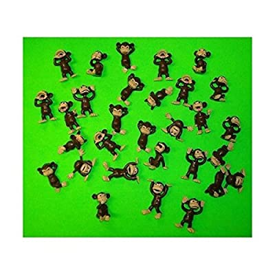 Monkey Figures 25 Tiny Plastic Monkey Figures Party Favors by A&A: Toys & Games