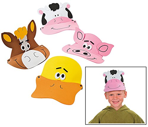 Farm Animal Costumes (Farm Animal Foam Visors (12 Pack) 21
