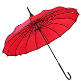Cheap Outgeek Pagoda Umbrella Vintage Parasol Princess Umbrella with Hook Handle