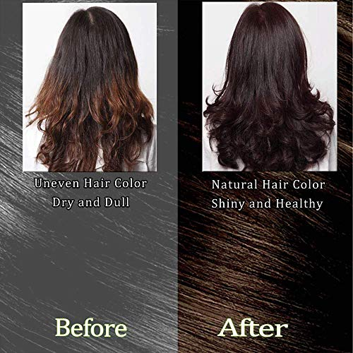 Dark Brown Hair Color Natural Hair Dye for Women & Men,Semi-Permanent, Full  Gray Coverage,Ammonia Free,Long Lasting,Aisanda Gold Spa 1min Hair Color ...