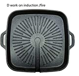 Fragil Tox Grill Plate Nonstick BBQ Grills Wheat Rice Stone Pan fire Induction General-Purpose Barbecue Pot Round Roasting Plate Home Use d