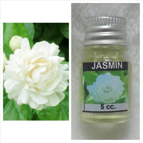 Jasmine 3 Light Bath (1 X Jasmine Flower Scent Thai Spa Aroma Pure Essential / Fragrance Oil for Spa Bath, Candle Lamp Burner,)