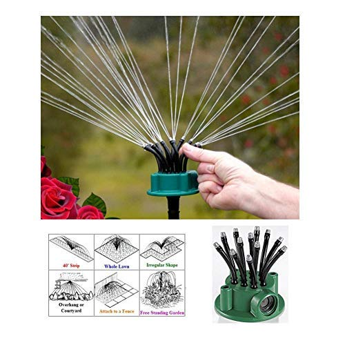 Yiting Patio Lawn Garden Gardening Watering Equipment Sprinklers Adjustable Garden and Lawn Sprinkler Irrigation System Sprinkler Head Flower Sprinkler 360 Degree Automatic Sprinkler