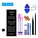 Ogodeal Battery Replacement for Model iPhone 5S with Repair Tool Kit 1560mAh A1453, A1457, A1518, A1528, A1530, A1533 365 Days Warranty
