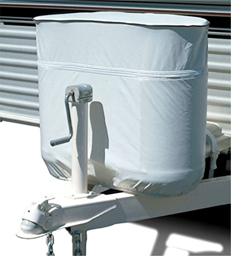 PMD Products 30lb RV Propane LP Gas Cylinder Tank Vinyl Cover Double 30 Lb Polar White (23.5' High Tanks)